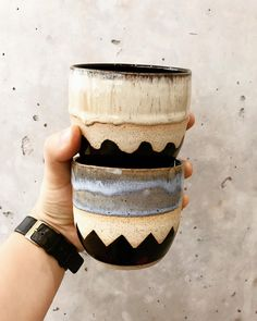 """504 Likes, 6 Comments - P U B L I C H O L I D A Y (@itsapublicholiday) on Instagram: """"Ready for a holiday cheers! ⚡️✌ ~ #ceramics #pottery #handmade #blackisthenewblack #cheers…"""""""