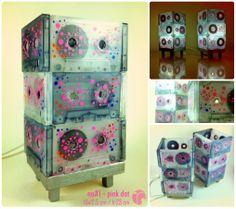 no#1 - pink dot / kaset lamba / cassette lamp / aydınlatma / lighting