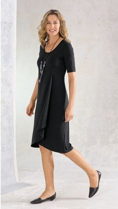 wearever drape-front dress, favorite skimmers & agate statement necklace