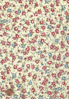Pink & Blue Floral Fabric  ༺✿Teresa Restegui http://www.pinterest.com/teretegui/✿༻