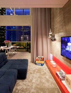 brazilian interiors LIVING ROOM CURTAINS AND SOFA?