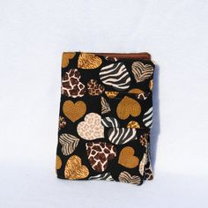 Heart shaped animal print travel size crayon wallet-Crafts Travel Coloring Set-Childrens Crayon Wallet