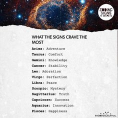 What The Signs Want Aries: McDonald' s tbh; Taurus: a BREAK; Gemini: someone to talk to; Leo: their crush to like them. Zodiac Signs Horoscope, Zodiac Posts, Zodiac Memes, Zodiac Star Signs, Zodiac Sign Facts, Zodiac Horoscope, My Zodiac Sign, Zodiac Quotes, Astrology Signs