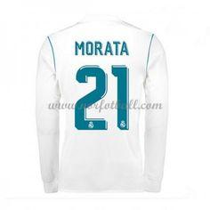 Billige Fotballdrakter Real Madrid 2017-18 Morata 21 Hjemmedrakt Langermet