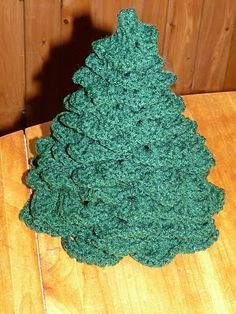 """In my pre-crochet days I was gifted one of these crocheted trees about 15 years ago. Mine has lights in it and white """"snow"""" trim. I've always wanted to learn how to make one. I am so happy to have found this tutorial."""