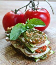 Raw Mushroom and Spinach Lasagna