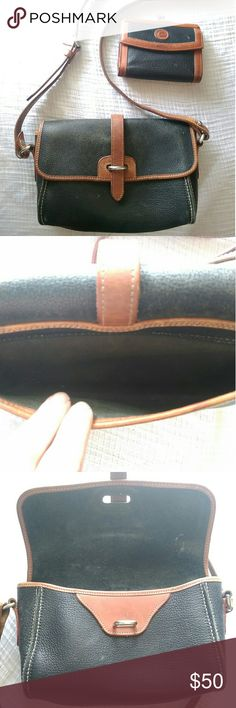 Vintage Dooney & Bourke Purse and Wallet Vintage Dooney & Bourke Purse and Wallet in great used condition. Wallet has the most wear but it is expected for a vintage piece. Glasses not included - used for size comparison. Bundle and save! Make me an offer! Dooney & Bourke Bags Shoulder Bags