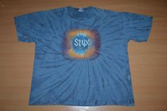 STYX Big Bang Theory Tour Concert Promo album tie dye XXL size rare T-shirt by OldSchoolZone on Etsy