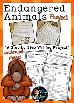 This writing pack includes everything you need to help your students research and write an animal report about an endangered species.