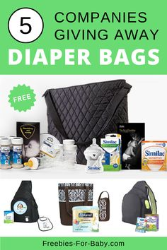5 Free Diaper Bags filled with Free Baby Stuff [ 2020 ] Freebies By Mail, Baby Freebies, Pregnancy Freebies, Baby Coupons, Free Baby Samples, Diaper Bags, Baby Bags