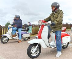 Pair of Lambrettas (Charles Dawson) Tags: stavertonairport lambretta scooter motorcycle teu114c pwp216e