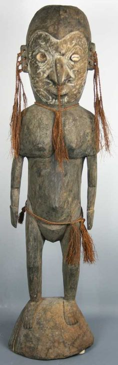 Tall Carved Female New Guinea Figure