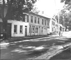 Main Street in the early 1940s, photo from Rensselaerville Historical Society