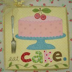 """My """"Eat Cake"""" pattern...Bee in my Bonnet"""