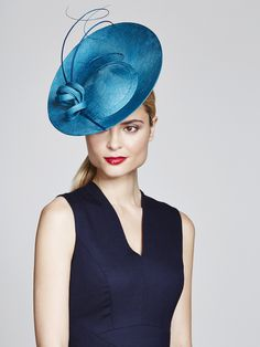 Juliette Botterill Millinery | Quill Percher | Blue and Disc Headpieces | LOVEHATS.COM
