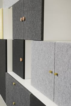 Swedish design studio Front has launched a modular storage system called Tetris that's made up of stacked blocks.
