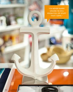 Anchor pottery by Jonathan Adler as seen in Matchbook Mag