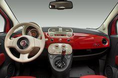 Interior del Fiat 500. Fiat Peru