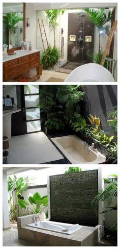 Divine desing for outside bathrooms  Divinos baños al aire libre | La Jirafa Rosada