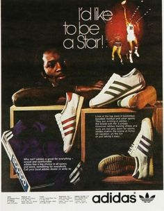 Vintage Adidas ad, my first pair