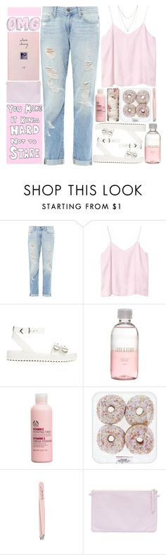 """""""ok cool"""" by dai-co ❤ liked on Polyvore featuring Paige Denim, Monki, Shellys, Lord & Berry, The Body Shop, Anastasia and Lucky Brand"""