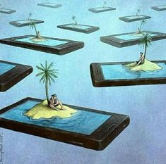 65 Satirical Illustrations Show Our Addiction To Technology The group is willing to collaborate effortlessly in reading posts whenever they want to. Satire, Political Art, Political Cartoons, Satirical Cartoons, Technology Addiction, Pictures With Deep Meaning, Deep Images, Satirical Illustrations, Smartphone