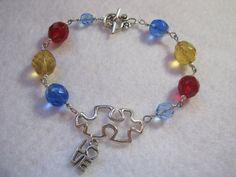 Autism Awareness bracelet. Autism Awareness by ArtsParadis on Etsy, $13.00
