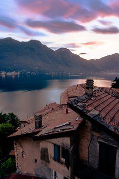 Lake Como Italy - Nesso, Sundown by Dennis Wehrmann on 500px