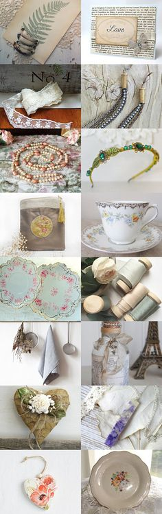 *** A Vintage Spring *** by Genevieve on Etsy--Pinned+with+TreasuryPin.com