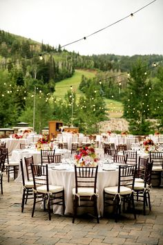 The perfect rustic outdoor #wedding reception at The St. Regis Deer Valley #SPGDreamWedding #SPGWeddings