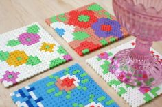 20 DIY Coasters to Rest Your Drink On via Brit + Co.