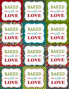 Adorable free printable to include with any of your homemade baked goods. Perfect for Christmas gifts!