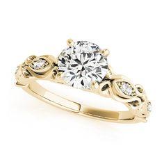 Transcendent Brilliance 14k White, Rose Or Yellow Gold 1 1/10ct TDW White Diamond Antique Style Engagement Ring (G-H, VS1-VS2) (Yellow - Size 5.75), Women's