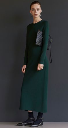 78880ac7c15942 Scanlan Theodore Micro Crepe Dress & Embossed Large Pouch Scanlan Theodore,  Crepe Dress, Pouch
