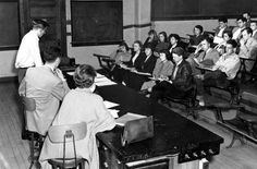 Student activities – Unidentified members of  the Student Council, 1950, Downtown  Campus.
