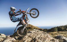 Download wallpapers KTM Freeride E-XC Enduro, offroad, 4k, jump, 2018 bikes, crossbikes, electric bikes, KTM