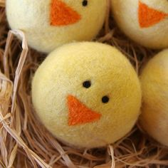 Waldorf Wool Ball TUTORIAL : The Baby Chick (Learn to Wet and Needle Felt PDF FILE). $6.00, via Etsy.