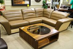 Modern Global Beige Leather 2 Pc Sectional - Colleen's Classic Consignment, Las Vegas, NV - https://cccfurnishings.com