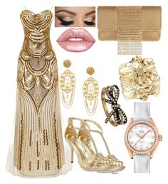 """The Golden"" by vampirekitty34 ❤ liked on Polyvore featuring Whiting & Davis, Dolce&Gabbana, OMEGA, Aurélie Bidermann, Ellie, Lime Crime and Marc Jacobs"