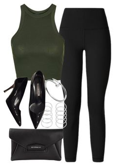 """""""Style #10890"""" by vany-alvarado ❤ liked on Polyvore featuring lululemon, Topshop, Manolo Blahnik, Givenchy and Cartier"""