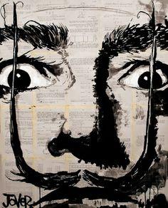 "Saatchi Online Artist Loui Jover; Drawing, ""salvador"" #art"