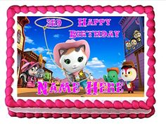 Edible Cake Topper Cupcake Topper Sheriff Callie - Personalizable Cake Images http://www.amazon.com/dp/B00JBSGBIC/ref=cm_sw_r_pi_dp_A9k6wb0EDEK25