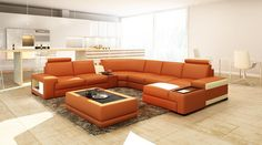 VGEV-SP-5103-Divani Casa 5103 Modern Bonded Leather Sectional Sofa w/ Audio SystemFinishing:Bonded LeatherDimensions:3 Seater: W69 Sectional Sofa Sale of $2979