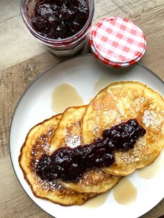 Cherry and Lemon Ricotta Pancakes