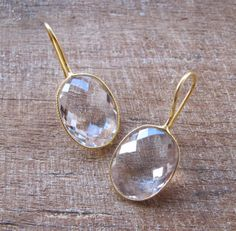 White Topaz Earrings Bridal EarringsDrop Stone Earrings by Belesas, $36.99