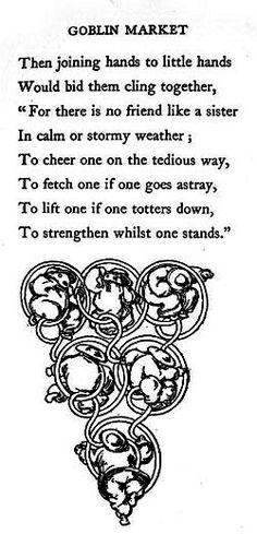 Goblin Market text by Christina Rosetti A Level English Literature, Literature Books, Energy Bus, Victorian Literature, Artemisia Gentileschi, Christina Rossetti, Marketing Quotes, Sister Quotes, Page Turner