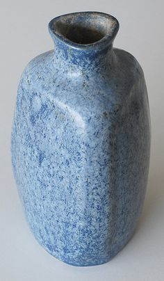 Hjorth, triangle blue, Denmark by Artpottery - a simple shape in a natural stone inspired glaze.