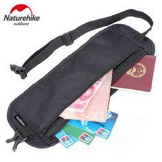 Naturehike Travel Outdoor Sports Running Bags Anti-Theft License Waist Small Sports Bag Purse Passport Hiking Running