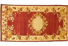 Turkish Oushak Floral Rug