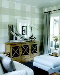 Plaid wall from 2012 Southern Living Idea House